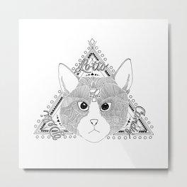 Bodega Cat Spirit Animal Metal Print