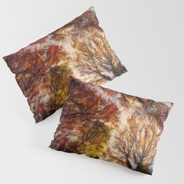 Forest Trees Branches Painting Nature Artwork Pillow Sham