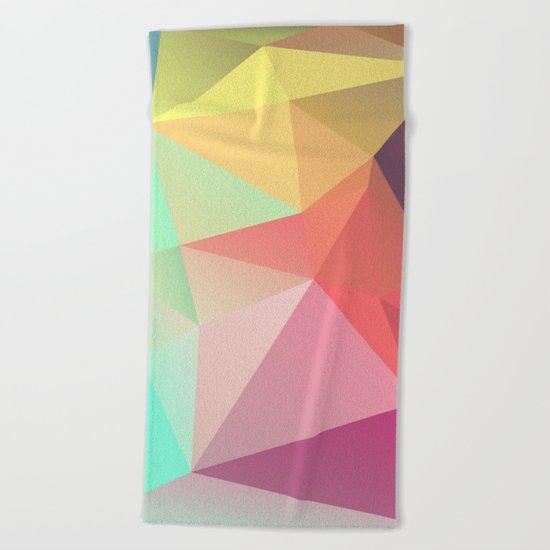 geometric V Beach Towel