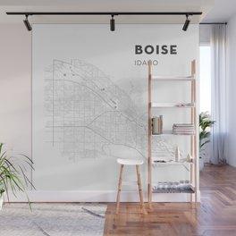 BOISE Map Print Wall Mural