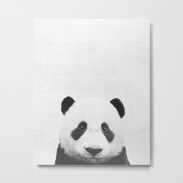 Baby Panda Peekaboo print Metal Print
