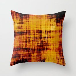 Orange and Brown Textured Abstract Throw Pillow