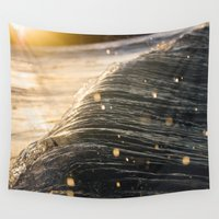 fairies Wall Tapestries featuring Fairies and Waves by Cameron Schroeder