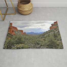 Sedona Canyon Landscape by Reay of Light Rug