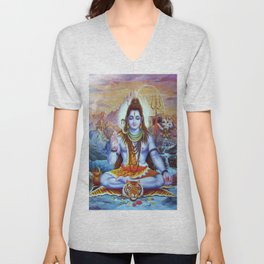 Shiva - Energize your day with his power Unisex V-Neck
