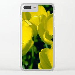 Yellow Tulips Clear iPhone Case
