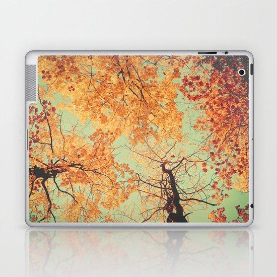 Autumn Inkblot - Yellow Laptop & iPad Skin