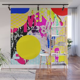 The River Flow - Abstract Pop Art Painting & Comic Wall Mural