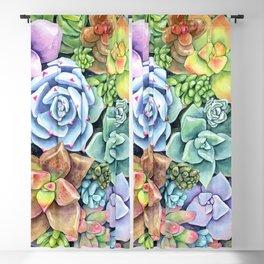 Watercolor Succulent Garden #49 Blackout Curtain