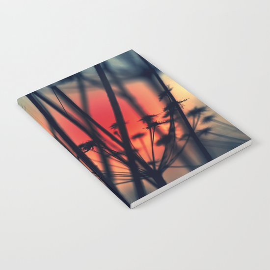 Shapes - dry weeds at sunrise Notebook