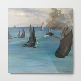 "Édouard Manet ""Sea View, Calm Weather (Vue de mer, temps calme)"" Metal Print"