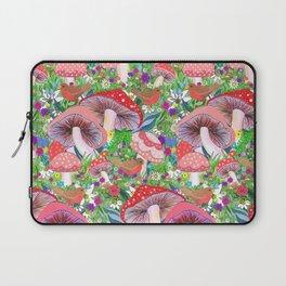 Swedish Toadstool Woodland Robins Floral Laptop Sleeve