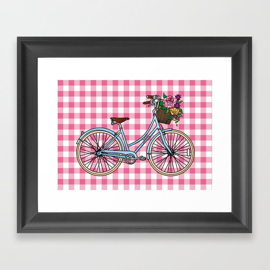 Her Bicycle Framed Art Print