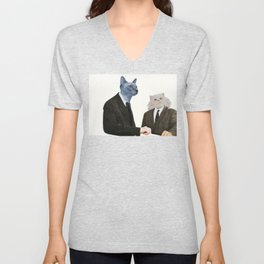 Cat Chat Unisex V-Neck