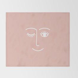 Wink / Pink Throw Blanket