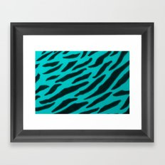 Aqua Zebra Print Framed Art Print