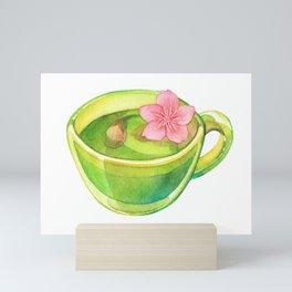 Hanami Green tea time Mini Art Print