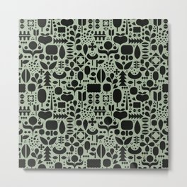 Organic motif pattern Metal Print