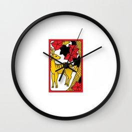 OCTOBER DEER Wall Clock
