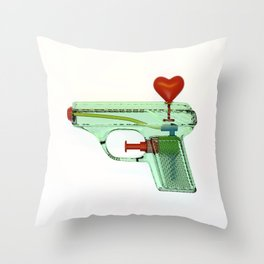 squirtgun love Throw Pillow