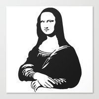 mona lisa Canvas Prints featuring Mona Lisa by b & c