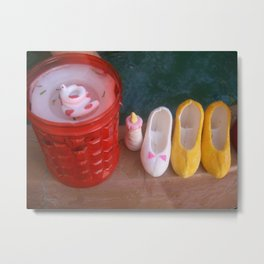 sugar slippers Metal Print