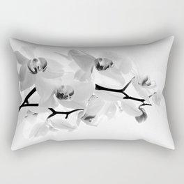 Sunhine Orchid Flower in White Rectangular Pillow