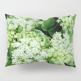 AWESOME DELICATE GREEN LACE FLOWERS Pillow Sham