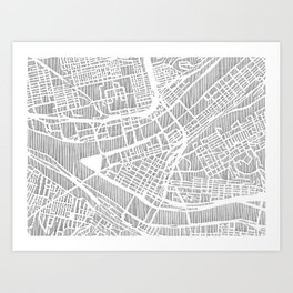 pittsburgh city print Art Print