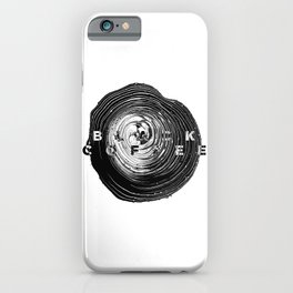 Black Coffee Abstract Art iPhone Case