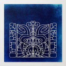 Threshold Guardian (blue) Canvas Print