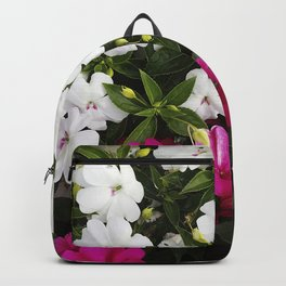 Patient Impatiens - Deep Pink and Sparkling White Backpack