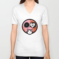 pagan V-neck T-shirts featuring Pagan Helladay by Pagan Holladay
