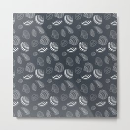 Tropical pattern with sea shells Metal Print