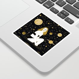 meteor shower Sticker