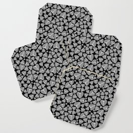 Black White Pattern Coaster