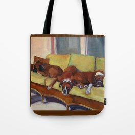 Boxer Dog Siesta Tote Bag
