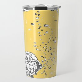 Two Tailed Duck and Jellyfish Pale Yellow Mellow Travel Mug