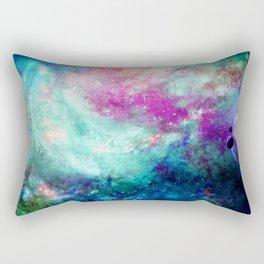 Teal Galaxy Rectangular Pillow