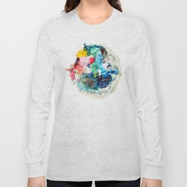 Rainbow Earth Paint Moon Love Long Sleeve T-shirt