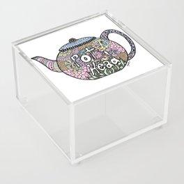 Tea Pot Head Acrylic Box