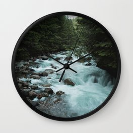 Pacific Northwest River II Wall Clock