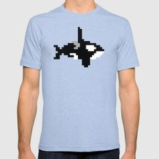 8-bit Orca Mens Fitted Tee Tri-Blue LARGE