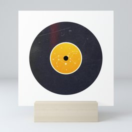 Vinyl Record Star Sign Art | Leo Mini Art Print