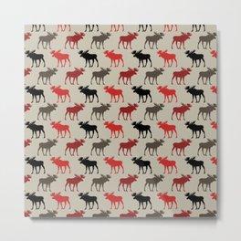 Bull Moose Pattern Metal Print