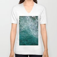 splash V-neck T-shirts featuring Splash by Leah McPhail