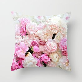 summer peonies Throw Pillow