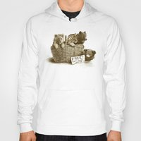 tigers Hoodies featuring Lions and Tigers and Bears by Eric Fan