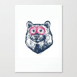 Bad bear Canvas Print