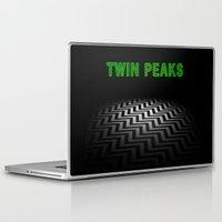 twin peaks Laptop & iPad Skins featuring Twin Peaks  by Spyck